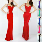 Sexy Long Slim Mermaid Formal Wedding Bridesmaid Cocktail Long Prom Evening Gown