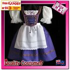Womens Purple Oktoberfest Beer Wench German Bavarian Fancy Dress Costume
