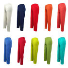 Women Ladies 3/4 length Footless Stretch Pants Slim Fit LEGGINGS Candy colours