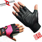 LEATHER WEIGHT LIFTING GYM GLOVES, BODY BUILDING EXERCISE WOMEN'S ONLY