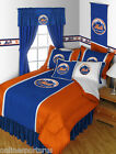 New York Mets Bed in a Bag Drapes & Valance Twin Full Queen King Size