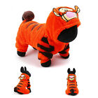 Brand New Cute Orange Plush Tiger Cosplay Clothes Sweatshirt for Small Dog Puppy