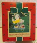 1984 Hallmark Ornament QX4601 GRANDCHILD'S 1st CHRISTMAS first pull lamb toy