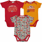 Infant Red Kansas City Chiefs Field Goal 3-Pack Bodysuit Set