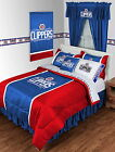 Los Angeles Clippers Bed in a Bag with Curtains Valance Twin to King Size