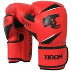 Leather Boxing Gloves UFC Muay Fight Punch Bag Thai Grappling Kick MMA