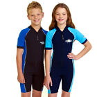 Youth Girls Boys Swimwear Rash Swimsuit Bathers UV Sun Protection Size 10-12-14