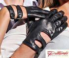 NEW! Driving Black Leather Gloves NEW!