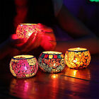 Mosaic Glass Candle holders Tealight Votive holder for wedding Home deco Cheap