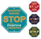 """Stop Sign Danger Ahead Country 12""""x12"""" [NEW] NFL - Pick Team $5.25 USD on eBay"""