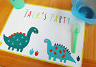 Personalised Party Paper Placemats 5, 10, 25 or 40 Mats Dinosaur Tablemat