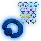 7mm Grade 23 Titanium BCR Ball Closure Ring Captive Bead CBR heavy gauge Large
