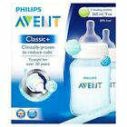 Philips Avent Slow Flow 2 x Bottle Classic + 260ml 9oz Pink Blue