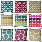 """Claire Patterned Chenille 17"""" x 17"""" Cushion Covers Or Complete Cushions One Pair"""