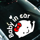 "Lovely Girl Baby on Board ""Baby in car"" Window Car Sticker Auto Vinyl Decal Gift"