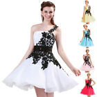Formal One Shoulder Ball Gown Bridesmaid Prom Homecoming Party Graduation Dress