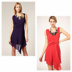 KAREN MILLEN Draped Beaded DRESS Evening Cocktail Party Ladies Sz 10,12,14,16 UK