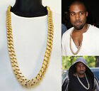 big link gold chain - XL BIG 20mm CELEBRITY STYLE  MIAMI CUBAN LINK HEAVY 38'' CHAIN NECKLACE