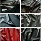 "SEMI-GLOSS FAUX LEATHER VINYL LAMB PLEATHER SOFT STRETCHY WATERPROOF FABRIC 54""W"