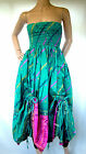 Light blues DRAW STRING Dress WENCH BELLY Festival SKIRT HIPPY Steampunk LADIES