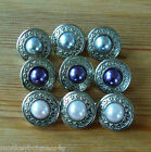 5 Retro Style Faux Pearl Shank Buttons - Cardigans/Coat/Jackets -Knitting/Sewing