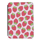 Fruity Strawberry Pink Kindle Paperwhite Touch PU Leather Flip Case Cover