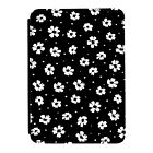 Black & White Flower Pattern Kindle Paperwhite Touch PU Leather Flip Case Cover