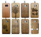 For Samsung Galaxy S6 Engraving Real Natural Wooden Phone Case Cover