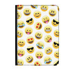 Emoji Pattern Smiley Face Funny Universal Tablet 7* Leather Flip Case Cover