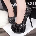 Sexy Noble Wedding  Party Night Club Round High Heels High-heeled Shoes