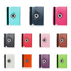 Leather Plain 360 Degrees Rotating Case Cover Stand for Apple iPad 5/ Air WWS