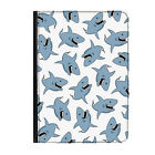 """Great White Shark Animal Zoo Universal Tablet 9-10.1"""" Leather Flip Case Cover"""