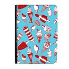 """Ice Lollies Lolly Cream Funny Universal 9-10.1"""" Leather Flip Case Cover"""