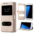 Smart Leather Case Free Touch Slim Flip Pouch Stand Cover For Samsung Models