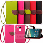 Flip Leaf Stand Protect Wallet Leather PU Skin Case Cover For Google Nexus 5X 6P