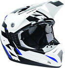 LAZER SMX WHIP WHITE BLUE BLACK MX MOTOCROSS MOTORCYCLE HELMET