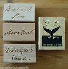 Rubber Stamp - Sentiments for Occations - Birthday - Cardmaking