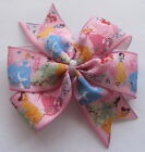 Pink Disney Princess Hair Bows (Design #1) - Clips Or Bobbles  - U Choose