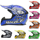 Wulfsport FLITE Child Kids CUB Motorbike Motocross MX Helmet Quad ATV Crash
