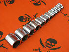 "Vintage Snap-On Tools FS (1/4"" - 7/8"") AF 3/8 Drive Shallow 6-Point Sockets USA"