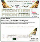 FRONTIER A319 DECAL N934FR L.J. Baby Lynx