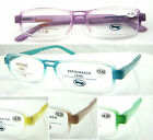 L349 Colour Hinge and Clear Frame Plastic Reading Glasses with Spring Hinges