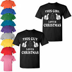 Christmas Lovers T shirt couple matching this guy girl loves Christmas Tank top