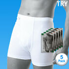 SBW Try Underwear Mens Basic Drawsers 100% Cotton White 5pack