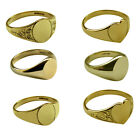 9ct Yellow Gold Signet Rings 375 UK Hallmarked Ladies Child's Solid Oval Heart