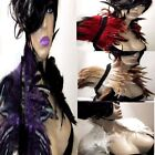 SEXY FEATHER SHRUG COLLAR CAPE WRAP SHAWL GOTH PURPLE GREEN RED IVORY CREAM BOA
