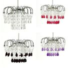Poppy Style Chandelier Ceiling Light Pendant Shade Acrylic Crystal Droplet Jewel