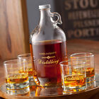 Personalized Whiskey Growler Decanter Set With Lowball Glasses Free Shipping