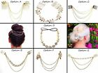 7 OPTIONS - Gold Leaf Hair Chains, Slide In, Hair Jewellery, Fashion, Chain