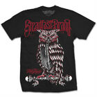 NEW WITH TAGS Steadfast Brand PERCHED OWL Tee Shirt BLACK SMALL-5XLARGE LIMITED